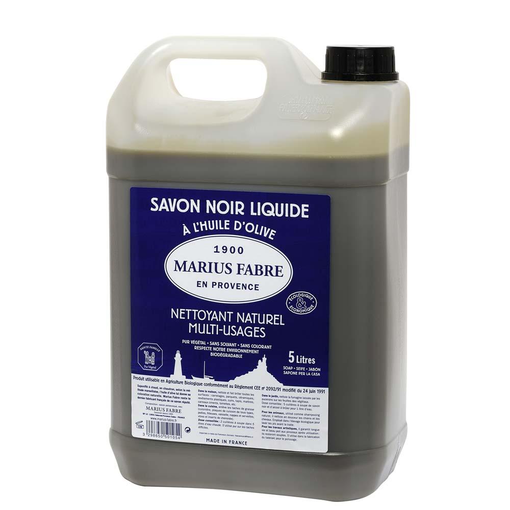 Zwarte zeep Marius Fabre inhoud 5 liter